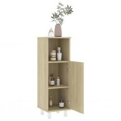 stradeXL Bathroom Cabinet Sonoma Oak 30x30x95 cm Chipboard