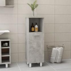 stradeXL Bathroom Cabinet Concrete Grey 30x30x95 cm Chipboard