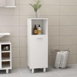 stradeXL Szafka łazienkowa, wysoki połysk, biała, 30x30x95 cm, płyta