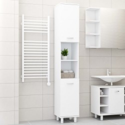 stradeXL Bathroom Cabinet White 30x30x179 cm Chipboard