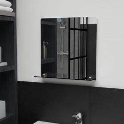 stradeXL Wall Mirror with Shelf 40x40 cm Tempered Glass