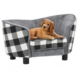 stradeXL Sofa dla psa, szara, 68x38x38 cm, pluszowa
