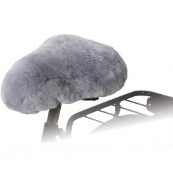 Willex Nakładka na siodełko rowerowe, owcza skóra, szare, 30135