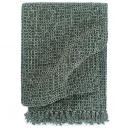 stradeXL Throw Cotton 125x150 cm Dark Green
