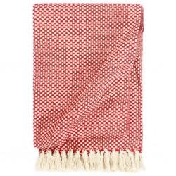 stradeXL Throw Cotton 220x250 cm Red