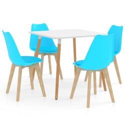 stradeXL 5-częściowy zestaw mebli jadalnianych, niebieski