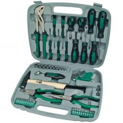 Brüder Mannesmann 57-częściowy zestaw narzędzi, zielony, 29057
