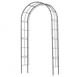 Nature Garden Arch Metal 229x38x113 cm Black
