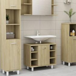 stradeXL Bathroom Cabinet Sonoma Oak 60x32x53.5 cm Chipboard