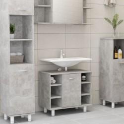 stradeXL Bathroom Cabinet Concrete Grey 60x32x53.5 cm Chipboard