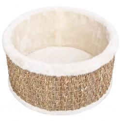 stradeXL Okrągły koszyk dla kota, 36 cm, trawa morska