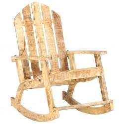 stradeXL Ogrodowy fotel bujany, lite drewno mango
