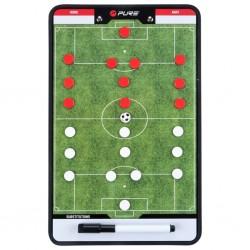 Pure2Improve Dwustronna tablica trenerska do piłki nożnej, 35x22 cm