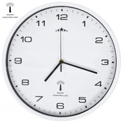 stradeXL Sterowany radiowo zegar z mechanizmem kwarcowym, 31 cm, biały