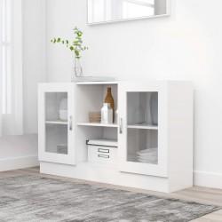 stradeXL Witryna, biała, 120 x 30,5 x 70 cm, płyta wiórowa