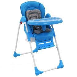 stradeXL Krzesełko do karmienia dzieci, niebiesko-szare