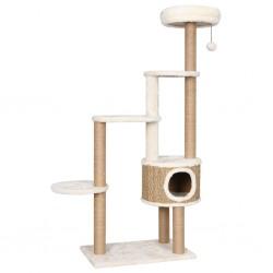 stradeXL Drzewko dla kota z poduszką i słupkiem, 148 cm, trawa morska