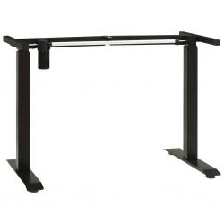 stradeXL Rama do wysokiego biurka, elektryczna, regulowana, czarna