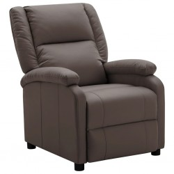 stradeXL Fotel rozkładany, brązowy, sztuczna skóra