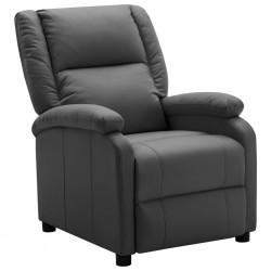 stradeXL Fotel rozkładany, antracytowy, sztuczna skóra