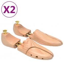 stradeXL Prawidła do butów, 2 pary, rozmiar 42-43, lite drewno sosnowe