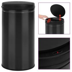 stradeXL Automatic Sensor Dustbin 60 L Carbon Steel Black