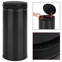 stradeXL Automatic Sensor Dustbin 80 L Carbon Steel Black