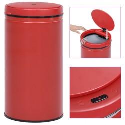 stradeXL Automatic Sensor Dustbin 60 L Carbon Steel Red
