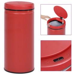 stradeXL Automatic Sensor Dustbin 80 L Carbon Steel Red
