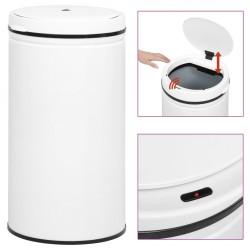 stradeXL Automatic Sensor Dustbin 60 L Carbon Steel White