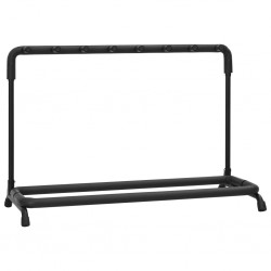 stradeXL Guitar Stand 7 Sections Black Steel