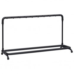 stradeXL Guitar Stand 9 Sections Black Steel