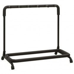 stradeXL Guitar Stand 5 Sections Black Steel