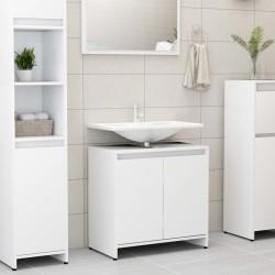stradeXL Szafka łazienkowa, biała, 60x33x58 cm, płyta wiórowa