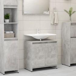 stradeXL Szafka łazienkowa, szarość betonu, 60x33x58 cm, płyta wiórowa