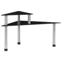 stradeXL Kitchen Shelf Black 49.5x35x26 cm Tempered Glass