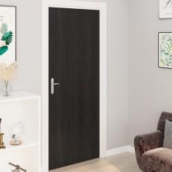 stradeXL Okleiny samoprzylepne na drzwi 4 szt., ciemne drewno, 210x90 cm