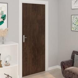 stradeXL Okleina samoprzylepna na drzwi, 4 szt., ciemny dąb, 210x90 cm