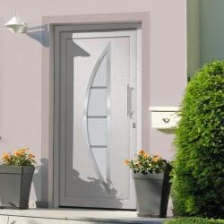 stradeXL Drzwi wejściowe zewnętrzne, białe, 88 x 200 cm