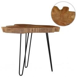 stradeXL Stolik kawowy, (60-70) x 45 cm, drewno tekowe