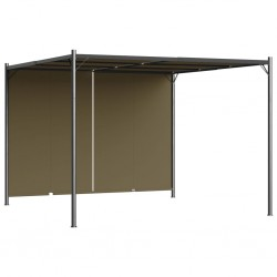 stradeXL Garden Pergola with Retractable Roof 3x3 m Taupe 180 g/m²
