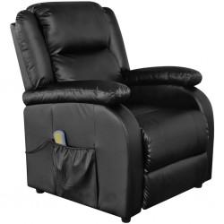 Black Electric Artificial Leather Massage TV Armchair