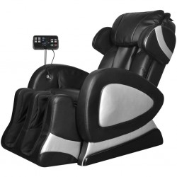 Electric Massage Chair with Super Screen Black Artificial Leather