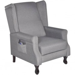 Adjustable Fabric TV Massage Recliner/Armchair Remote Control Grey