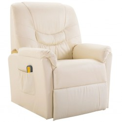 Massage Chair Artificial Leather Cream
