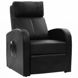 Electric Massage Chair with Remote Control Black