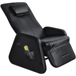 Black Zero Gravity Electric Artificial Leather Massage Chair/Recliner