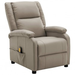 Massage Recliner Cappuccino Faux Leather