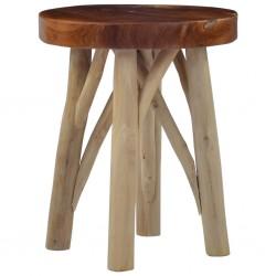 stradeXL Stołek, brązowy, drewno tekowe