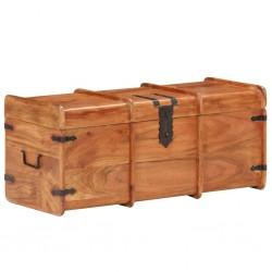 stradeXL Skrzynia, 90x40x40 cm, lite drewno akacjowe
